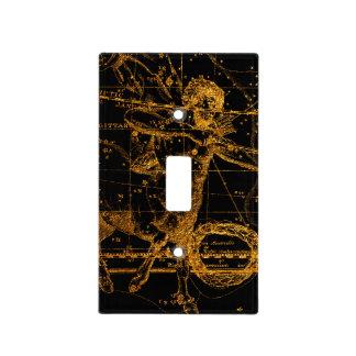 Celestial Star Map Astrological Gold Sagittarius Light Switch Cover