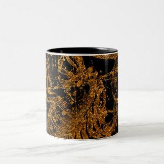 Celestial Star Map Astrological Sign Gold Scorpio Two-Tone Coffee Mug
