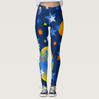 Celestial Stars and Planets Leggings