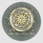 Celestial Sun Bookplate Stickers