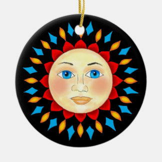 Celestial Sun Face Ornament