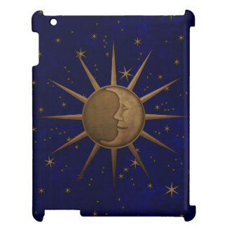 Celestial Sun Moon Brass Bas Relief Graphic Cover For The iPad