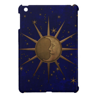 Celestial Sun Moon Brass Bas Relief Graphic iPad Mini Cover