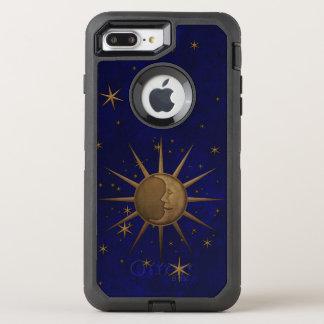 Celestial Sun Moon Brass Bas Relief Graphic OtterBox Defender iPhone 8 Plus/7 Plus Case