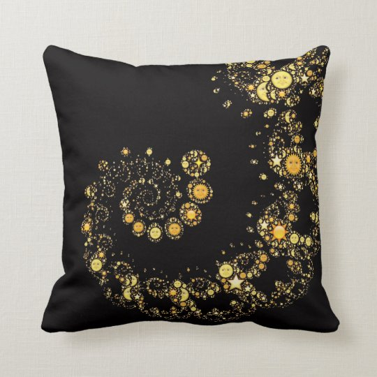 Celestial sun moon emoji symbol emojis hipster throw pillow