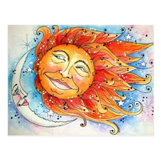 Celestial Sun & Moon Post Card
