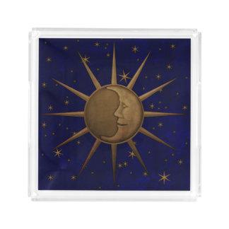Celestial Sun Moon Starry Night Acrylic Tray