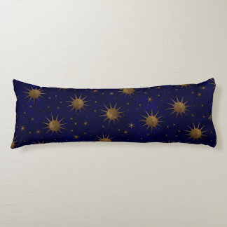 Celestial Sun Moon Starry Night Body Pillow