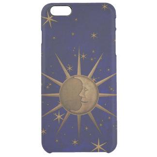 Celestial Sun Moon Starry Night Clear iPhone 6 Plus Case