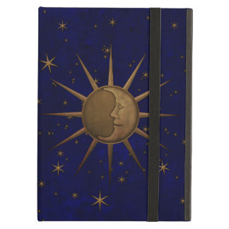 Celestial Sun Moon Starry Night Cover For iPad Air