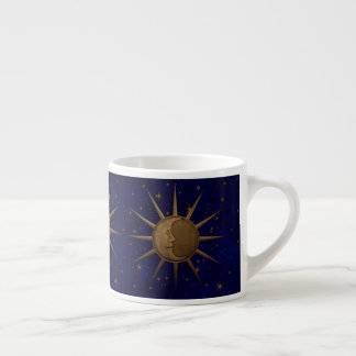 Celestial Sun Moon Starry Night Espresso Cup