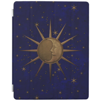 Celestial Sun Moon Starry Night iPad Cover