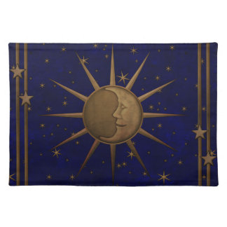 Celestial Sun Moon Starry Night Placemat