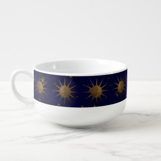 Celestial Sun Moon Starry Night Soup Mug