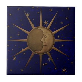Celestial Sun Moon Starry Night Tile