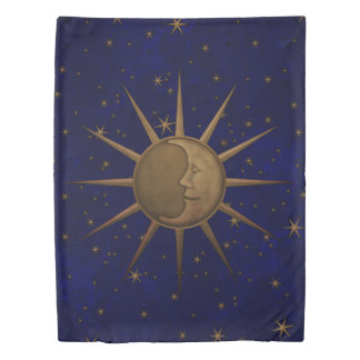 Celestial Sun Moon Starry Night Twin Duvet Cover