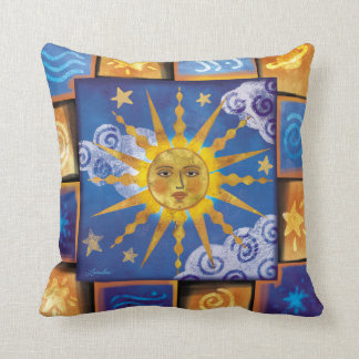 Celestial Sun Throw Pillow