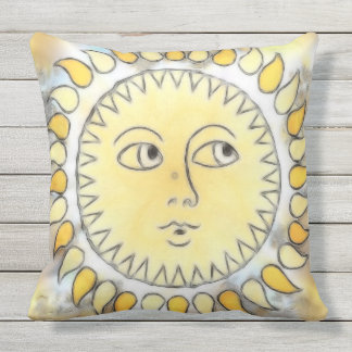 Celestial Sunburst Throw Pillow