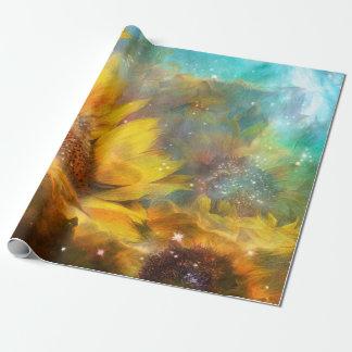 Celestial Sunflowers Art Gift Wrap