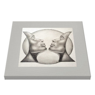 Celestial symmetry. canvas print