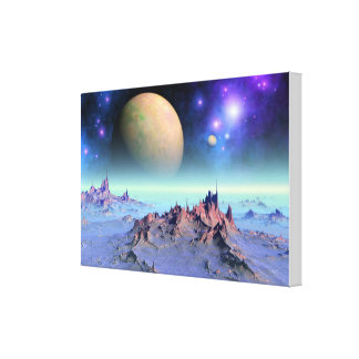 Celestial tide canvas print