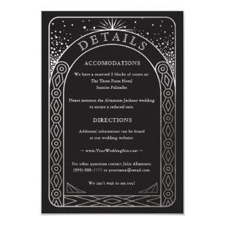 Celestial Union Wedding Details Card (Silver)