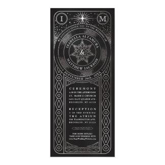 Celestial Union Wedding Invitiations (Tall Silver) Card