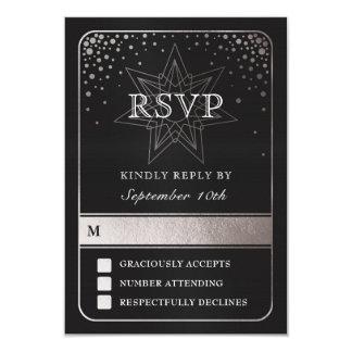 Celestial Union Wedding RSVP Cards (Silver)