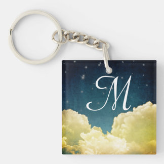 Celestial View Stars and Clouds Key Chain