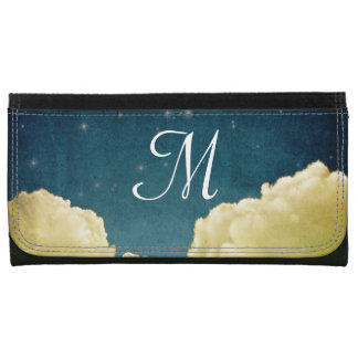 Celestial View Stars and Clouds Monogram Wallet