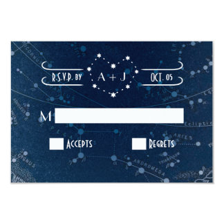 Celestial Wedding RSVP card