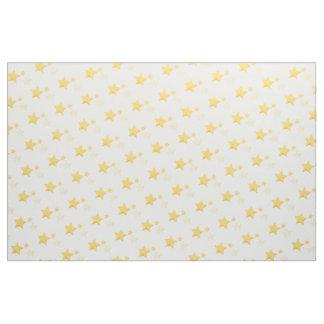 Celestial Yellow Cute Stars Baby Shower Fabric