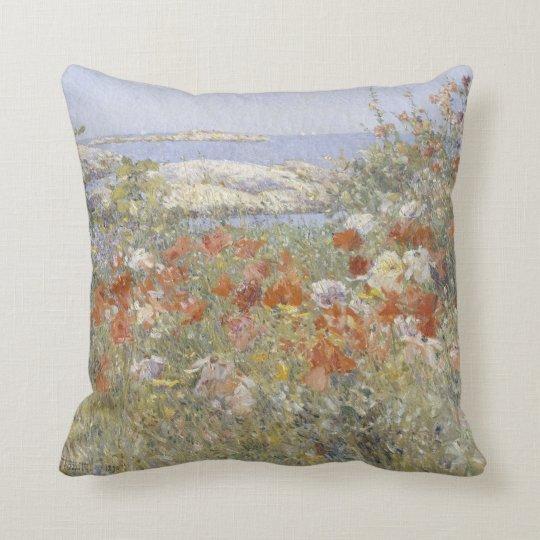 Celia Thaxter's Garden by Childe Hassam Throw Pillow