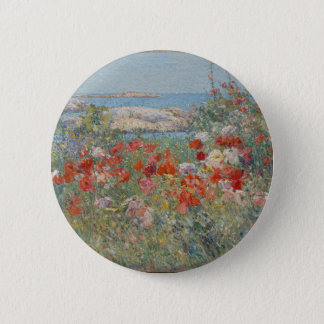Celia Thaxter's Garden, Isles of Shoals, Maine 2 Inch Round Button