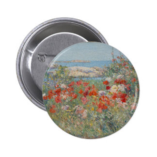 Celia Thaxter's Garden, Isles of Shoals, Maine 2 Inch Round Button