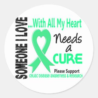Celiac Disease Needs A Cure 3 Round Sticker