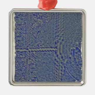 cell9.JPG Silver-Colored Square Ornament