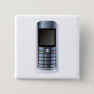 Cell Phone 2 Inch Square Button