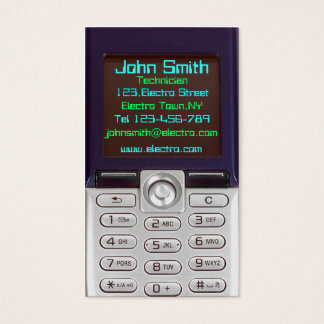 Cell Phone Business Card