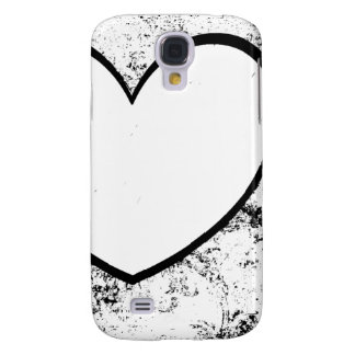 Cell Phone Case Heart Photo Insert Black White Samsung Galaxy S4 Cover