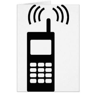 cell phone celly mobil handy greeting card