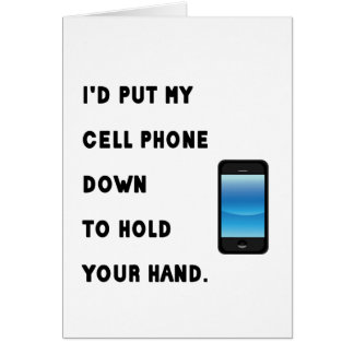 Cell Phone Humor Card