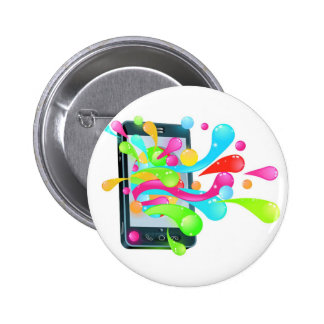 Cell phone jelly bubble concept pinback buttons