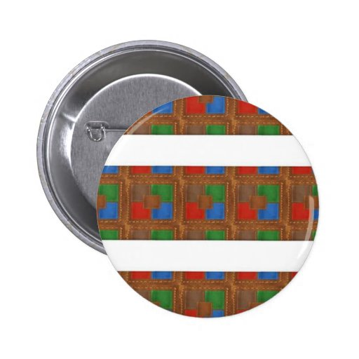 Cell  Phone Junky : LEATHER Patchwork Look Art Button