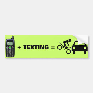 Cell Phone + Texting Bumper Sticker