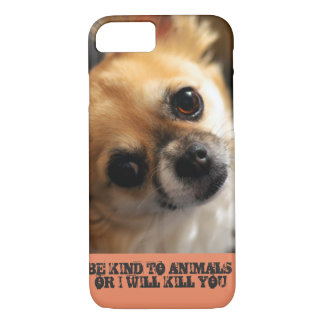 Cell phone with animal rights message. iPhone 7 case