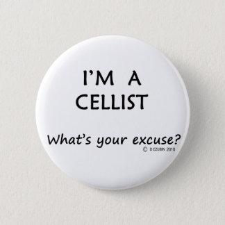 Cellist Excuse 2 Inch Round Button