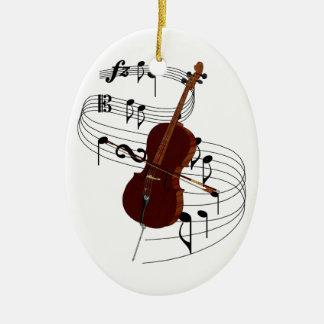 Cello Ceramic Ornament