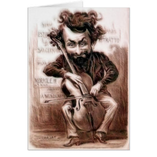 Cello Chops | Vintage Muscian | Wall Art Card