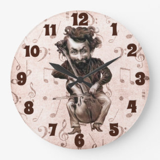 Cello Chops | Vintage Musician | Monogrammed Clock